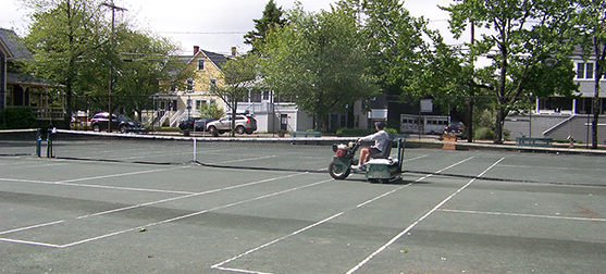 Image: Cleaning the Tennis Courts